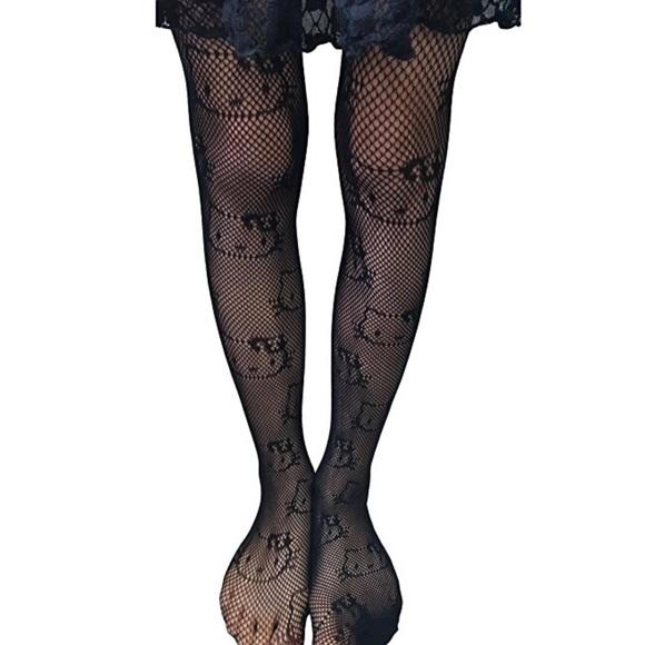 1971afa0b Hello Kitty Accessories | Girls Fishnet Mesh Tights | Poshmark